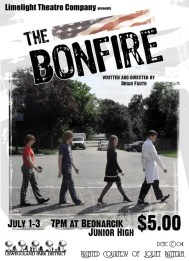 The Bonfire poster. Designed by Dustin McNichols.