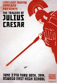 The Tragedy of Julius Caesar, 2007. Poster designed by Dustin McNichols.